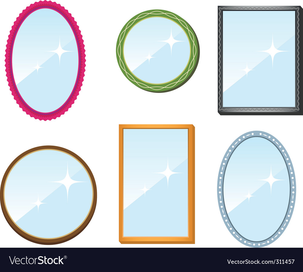 Set of mirrors vector | Price: 3 Credit (USD $3)