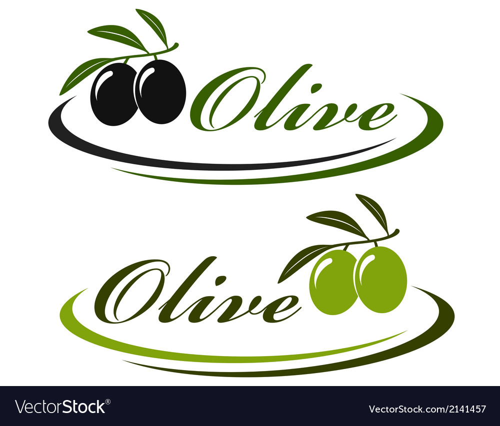 Sign with olives vector | Price: 1 Credit (USD $1)