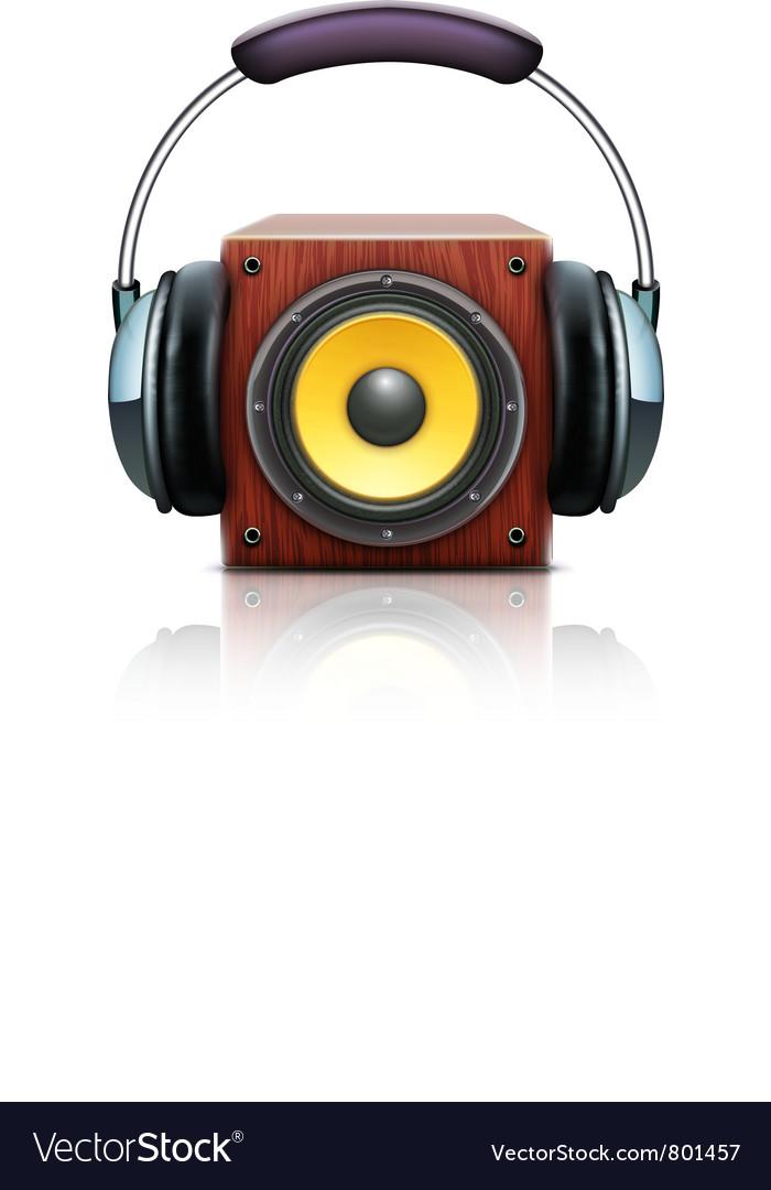 Sound loud speaker vector | Price: 3 Credit (USD $3)