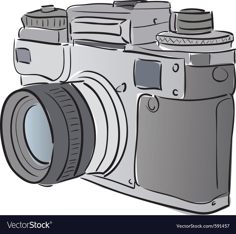 Stylized camera vector | Price: 1 Credit (USD $1)