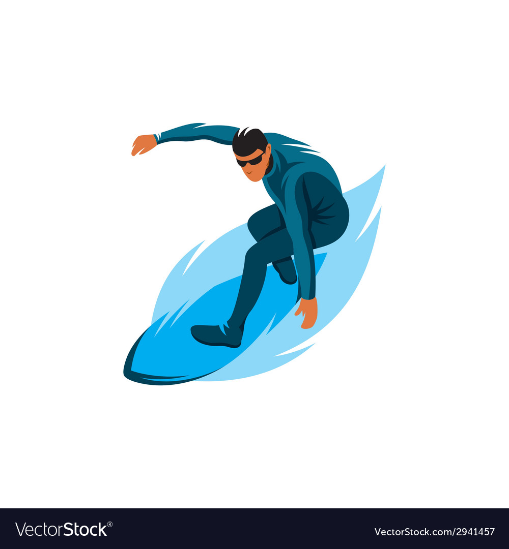 Surfing sign vector | Price: 1 Credit (USD $1)