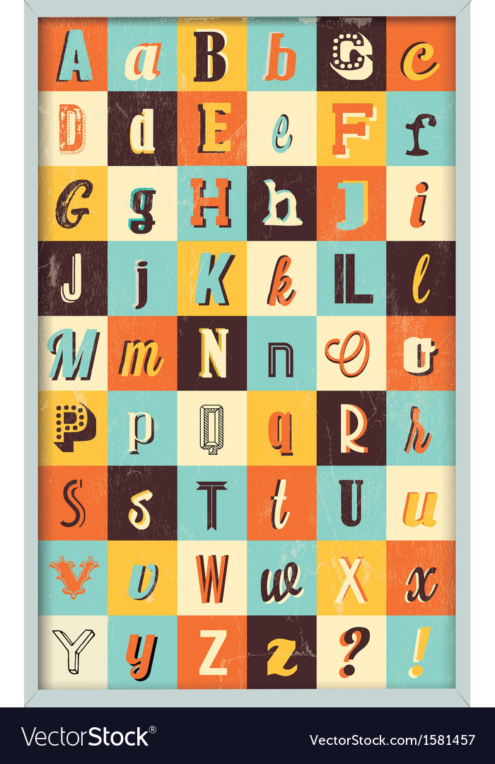Various retro vintage typography collection vector | Price: 1 Credit (USD $1)