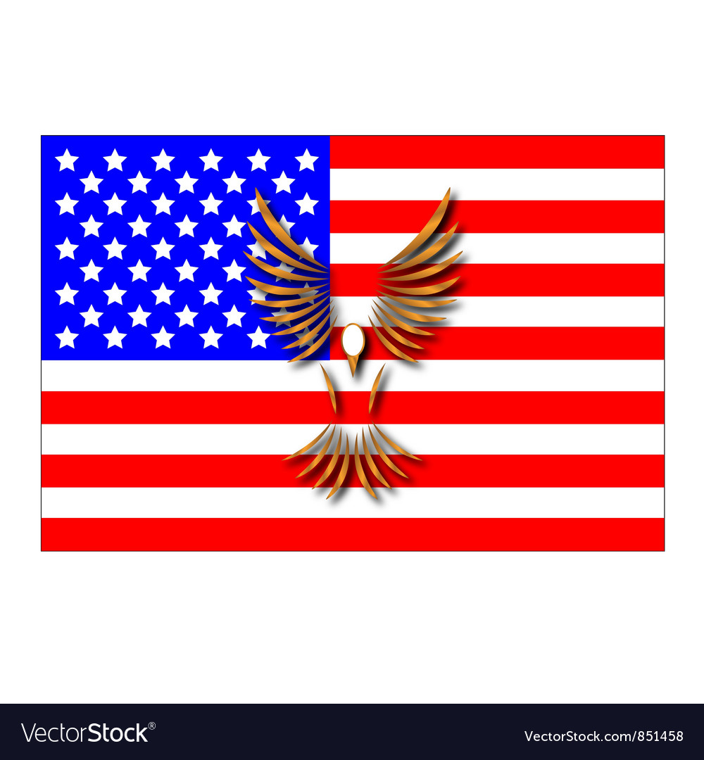 The american flag vector | Price: 1 Credit (USD $1)