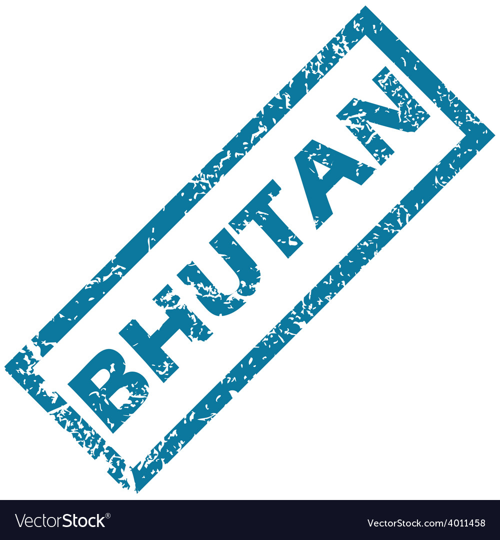 Bhutan rubber stamp vector | Price: 1 Credit (USD $1)