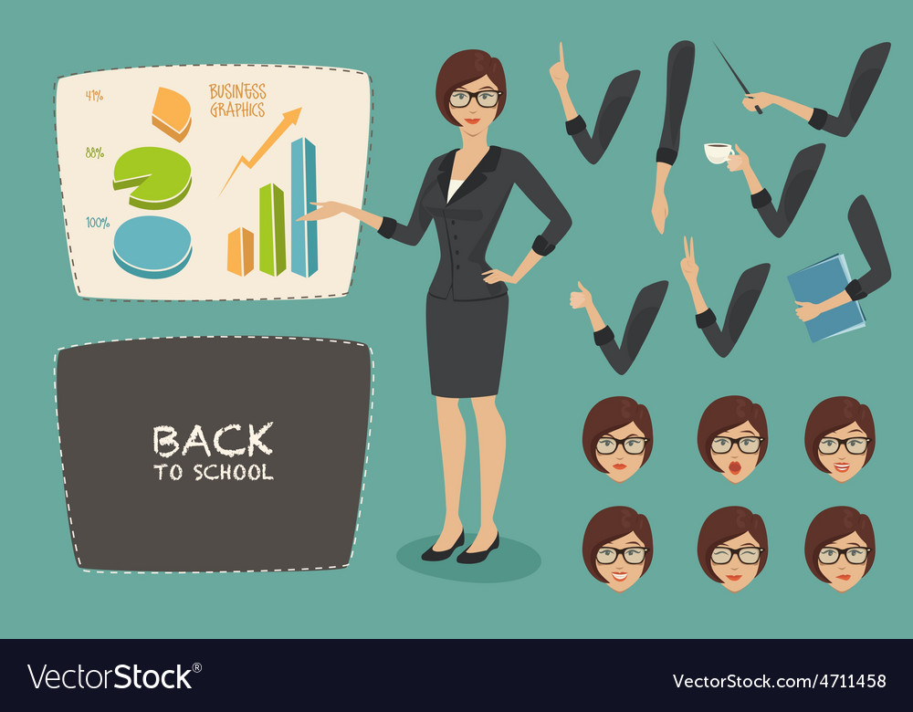 Business concept young women vector | Price: 1 Credit (USD $1)
