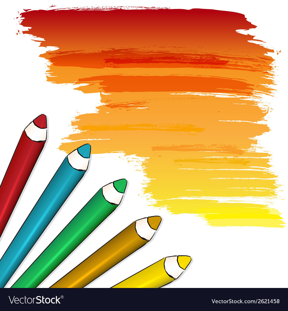 Coloured pencils vector | Price: 1 Credit (USD $1)