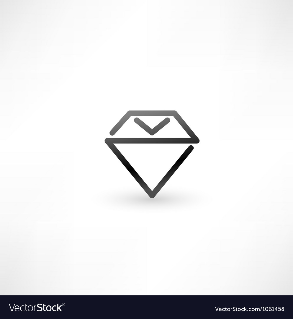 Diamond symbol design icon vector | Price: 1 Credit (USD $1)