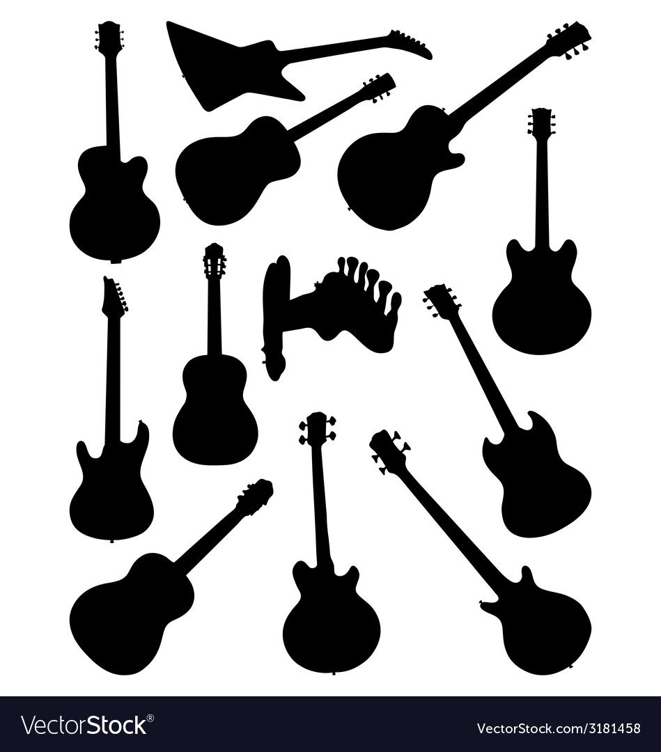 Guitars 2 vector | Price: 1 Credit (USD $1)