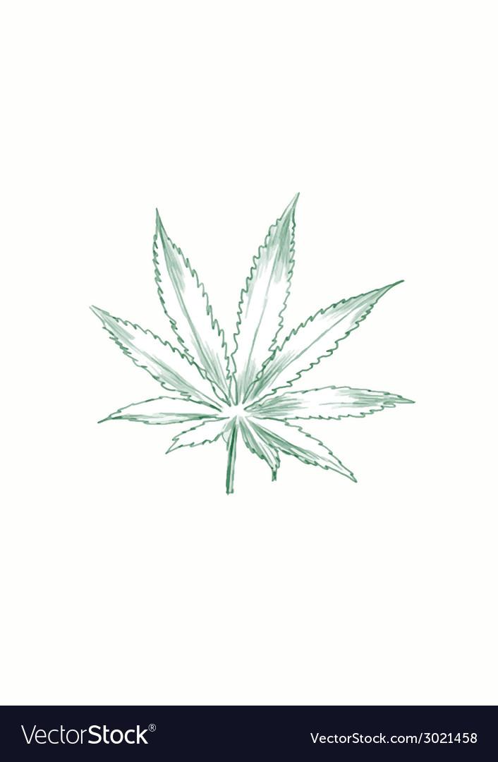 Marijuana leaf vector | Price: 1 Credit (USD $1)