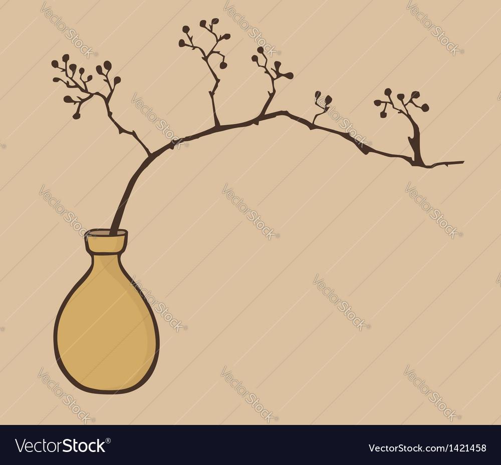 Oriental zen vase vector | Price: 1 Credit (USD $1)