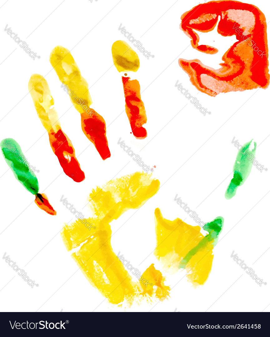 Paint print of human hand vector | Price: 1 Credit (USD $1)