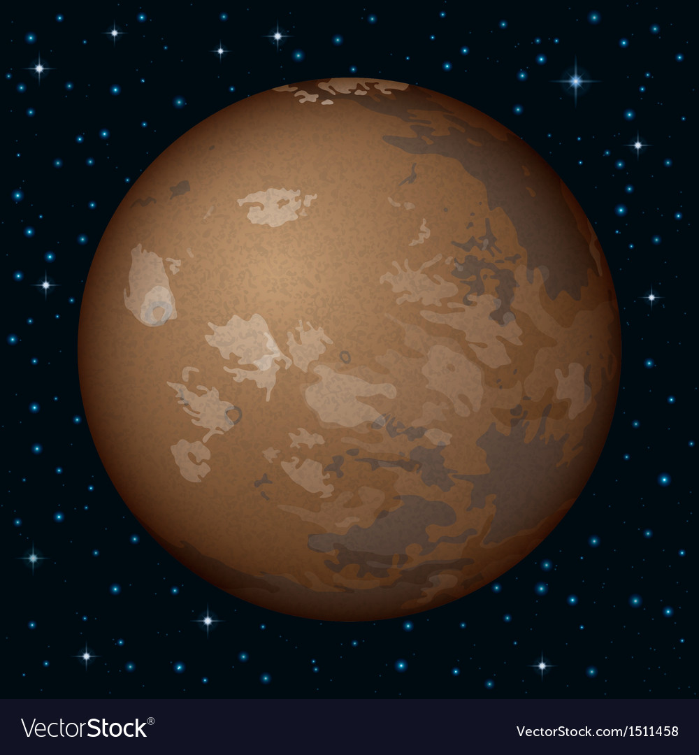 Planet mars in space vector | Price: 1 Credit (USD $1)