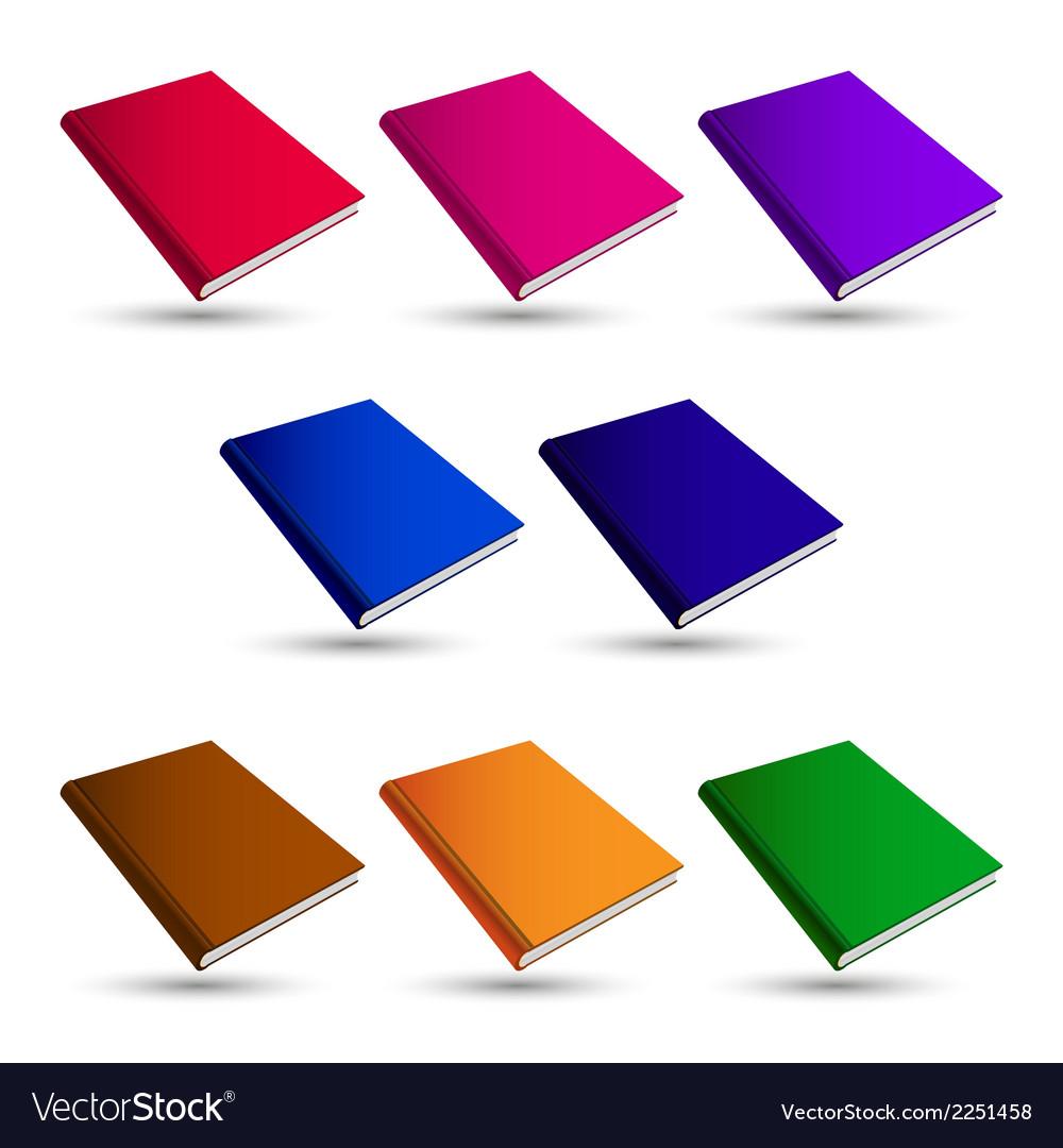 Set books vector | Price: 1 Credit (USD $1)