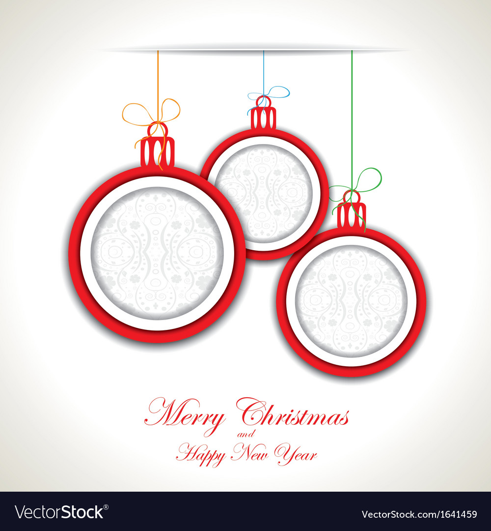 Abstract christmas background with christmas toys vector | Price: 1 Credit (USD $1)