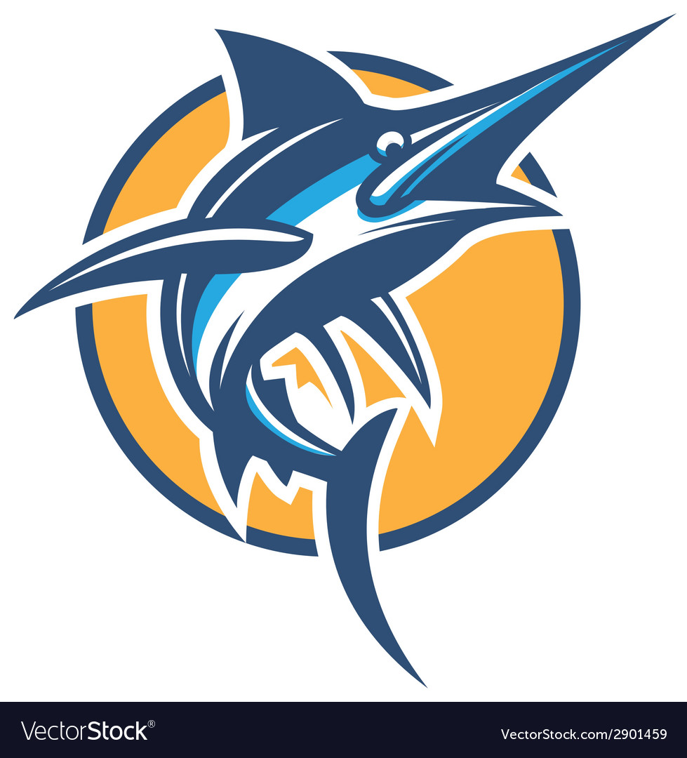 Blue marlin vector | Price: 3 Credit (USD $3)