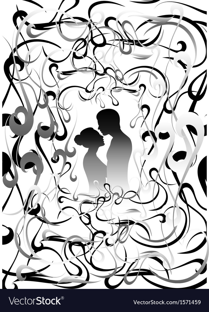 Boys and girls silhouettes with background vector | Price: 1 Credit (USD $1)