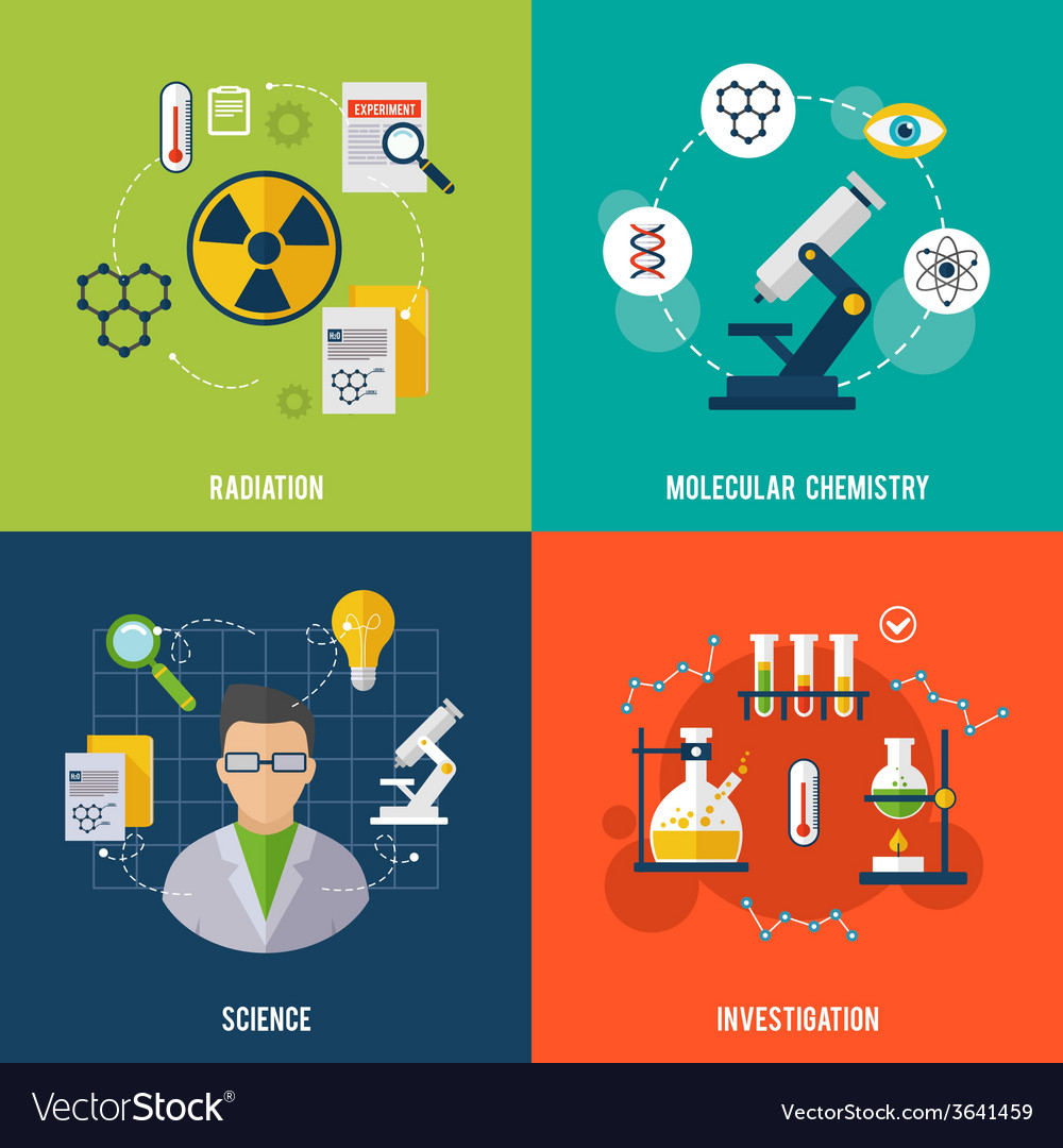 Chemistry flat set vector | Price: 1 Credit (USD $1)