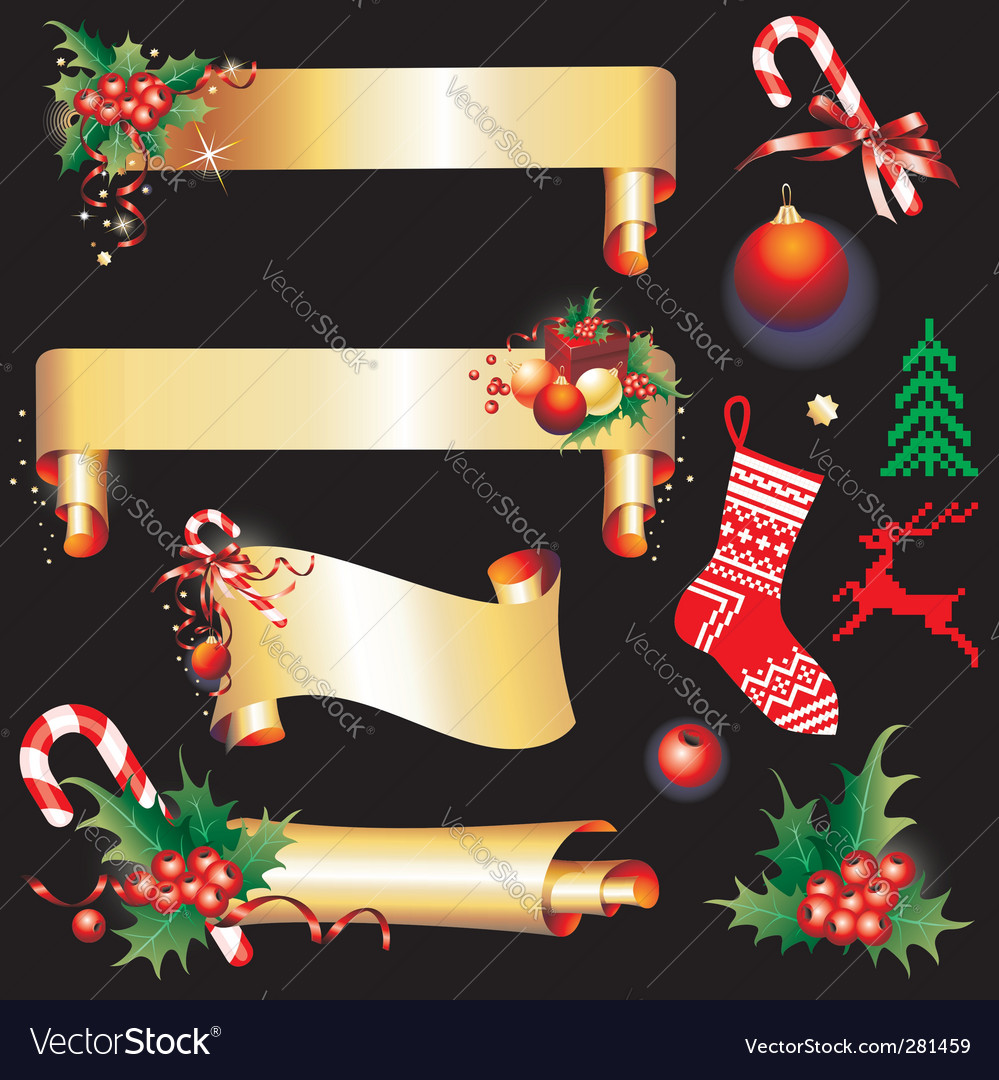 Christmas design elements vector | Price: 3 Credit (USD $3)