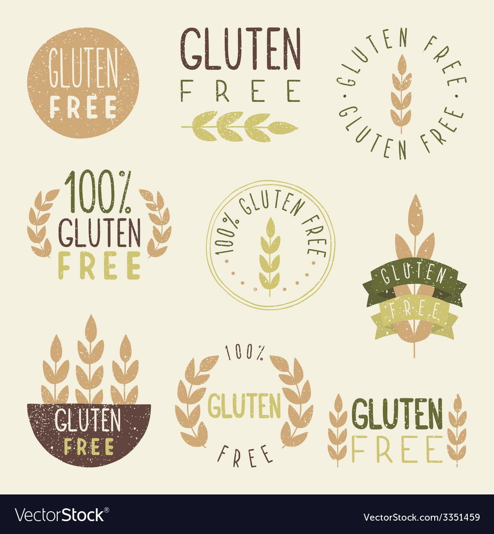 Gluten free labels vector | Price: 1 Credit (USD $1)
