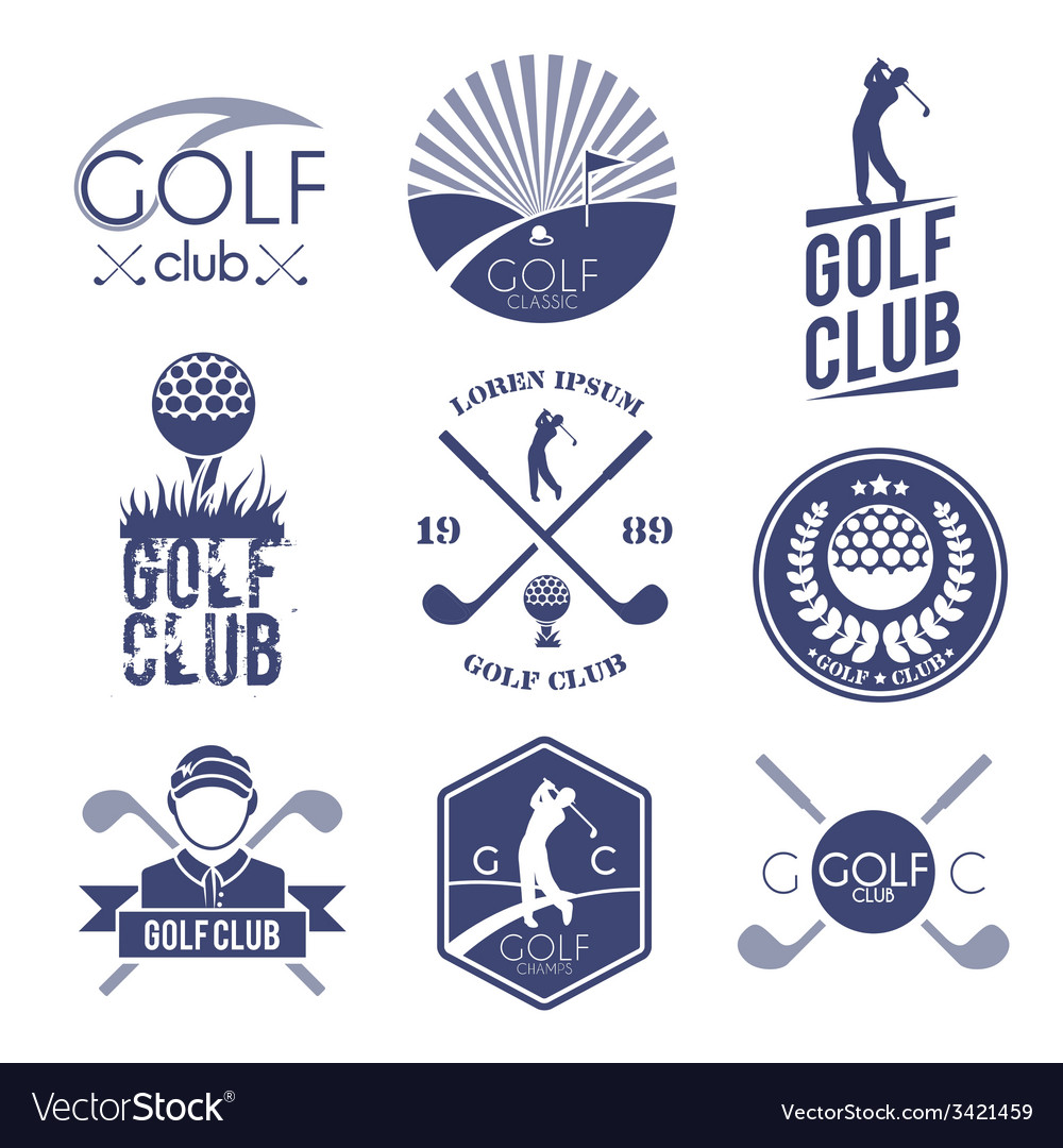Golf club label vector | Price: 1 Credit (USD $1)