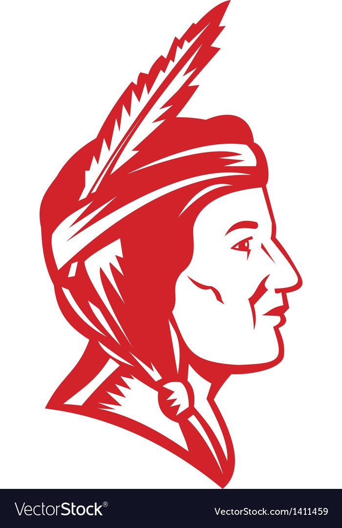 Native american indian squaw woman vector | Price: 1 Credit (USD $1)