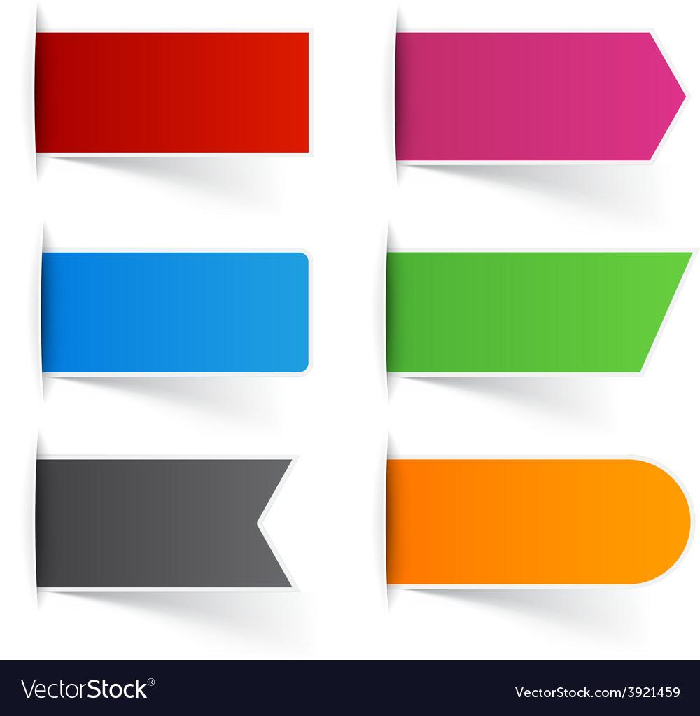 Paper labels vector | Price: 1 Credit (USD $1)