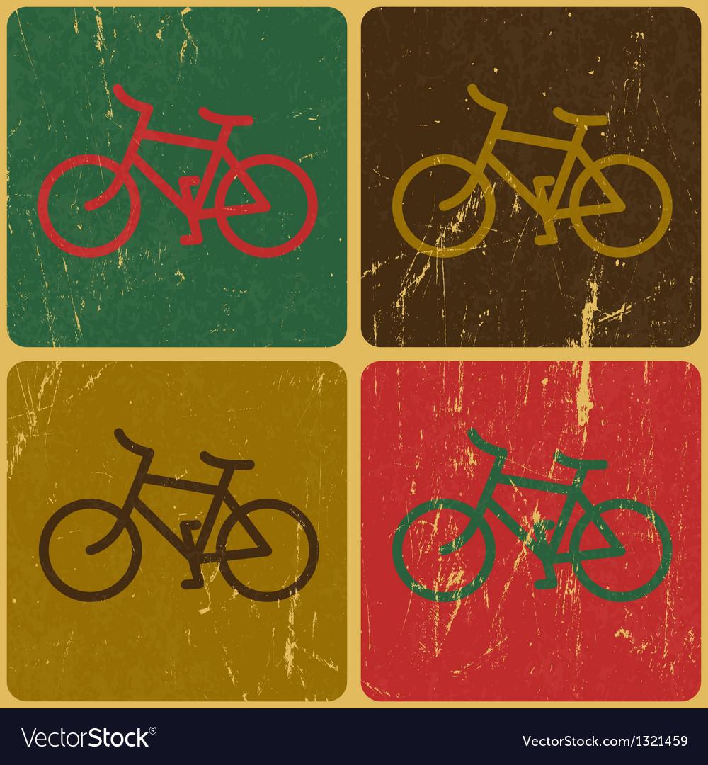 Retro bicycles background vector | Price: 1 Credit (USD $1)