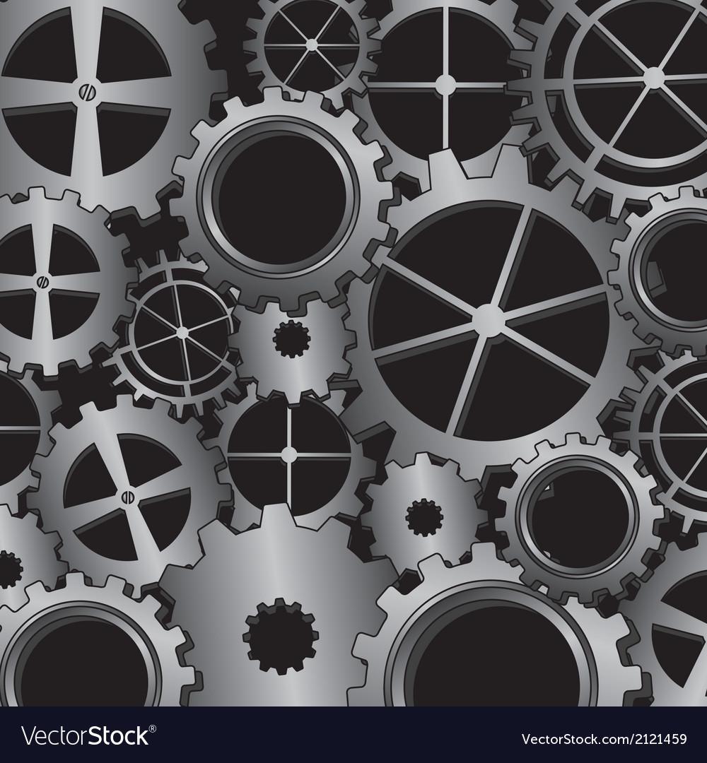 Silver gears vector | Price: 1 Credit (USD $1)