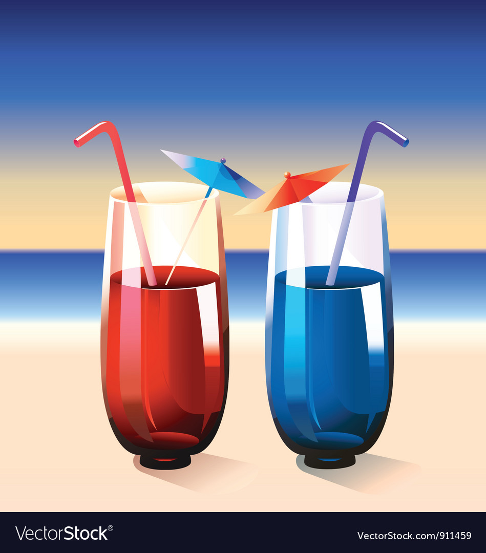 Summer cocktail vector | Price: 3 Credit (USD $3)