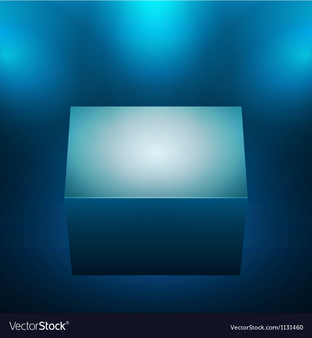 3d isolated empty blue podium vector | Price: 1 Credit (USD $1)