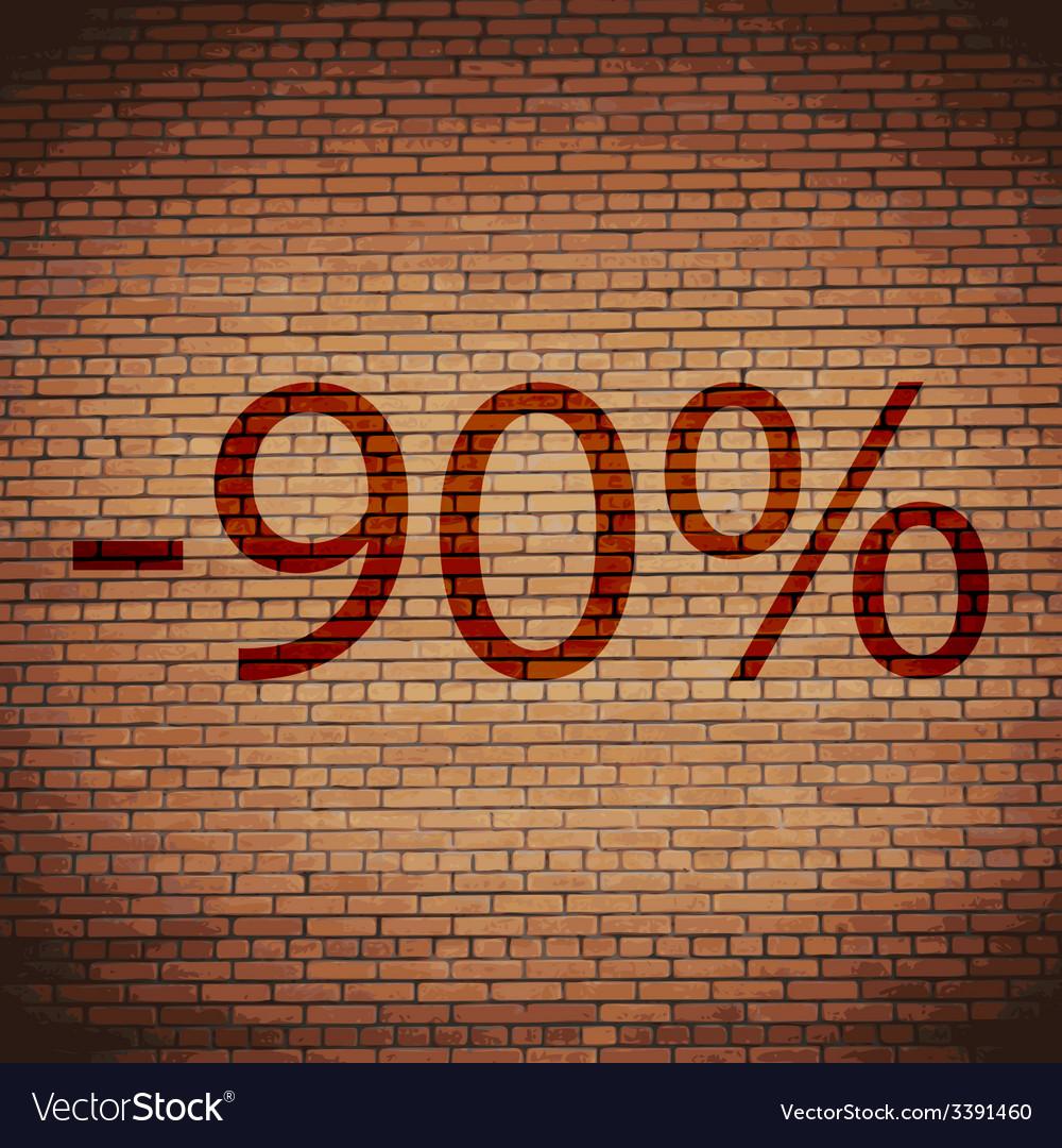 90 percent discount icon symbol flat modern web vector | Price: 1 Credit (USD $1)