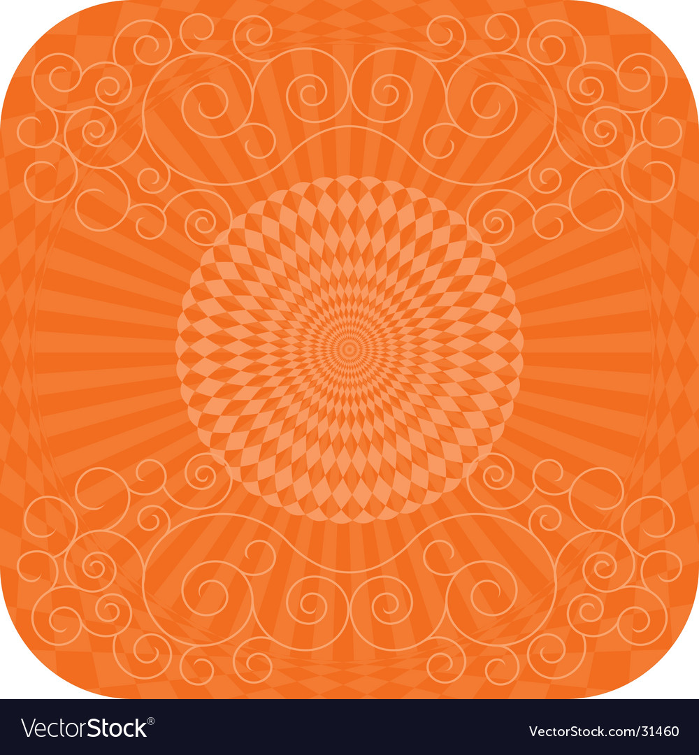 Abstract background with flower curls vector | Price: 1 Credit (USD $1)