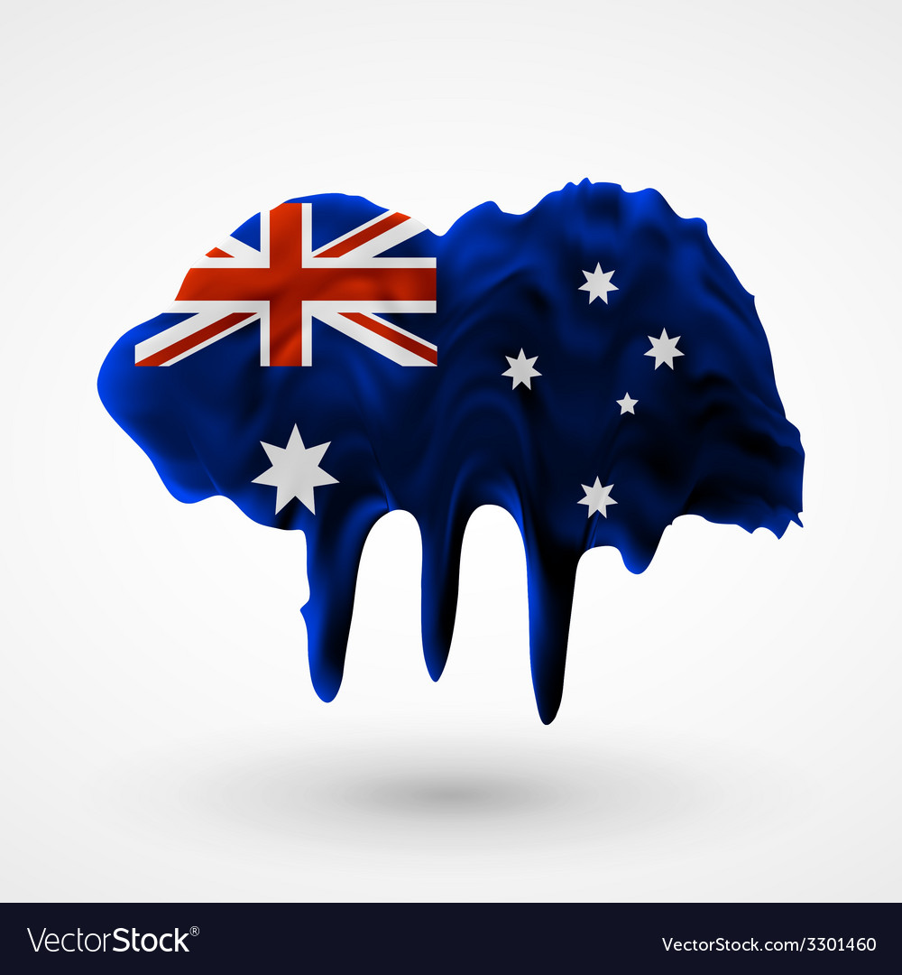 Australian flag painted colors vector | Price: 1 Credit (USD $1)