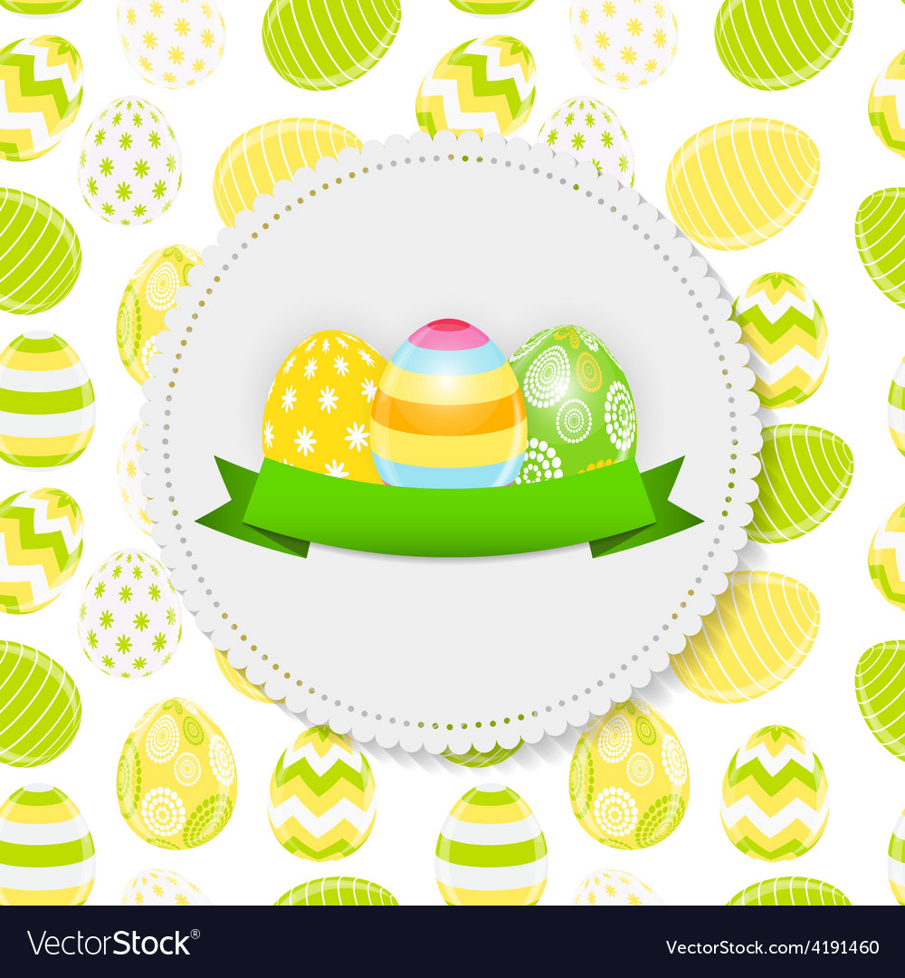 Beautiful easter egg background vector | Price: 3 Credit (USD $3)