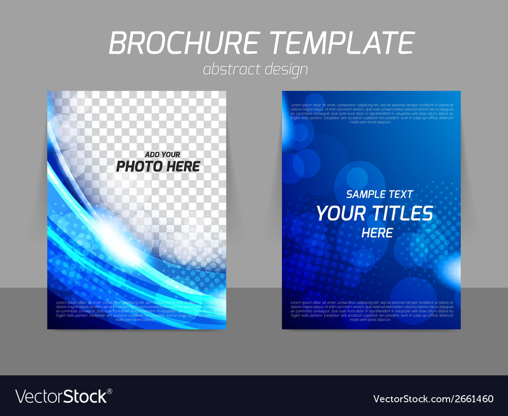Blue flyer template design vector | Price: 1 Credit (USD $1)