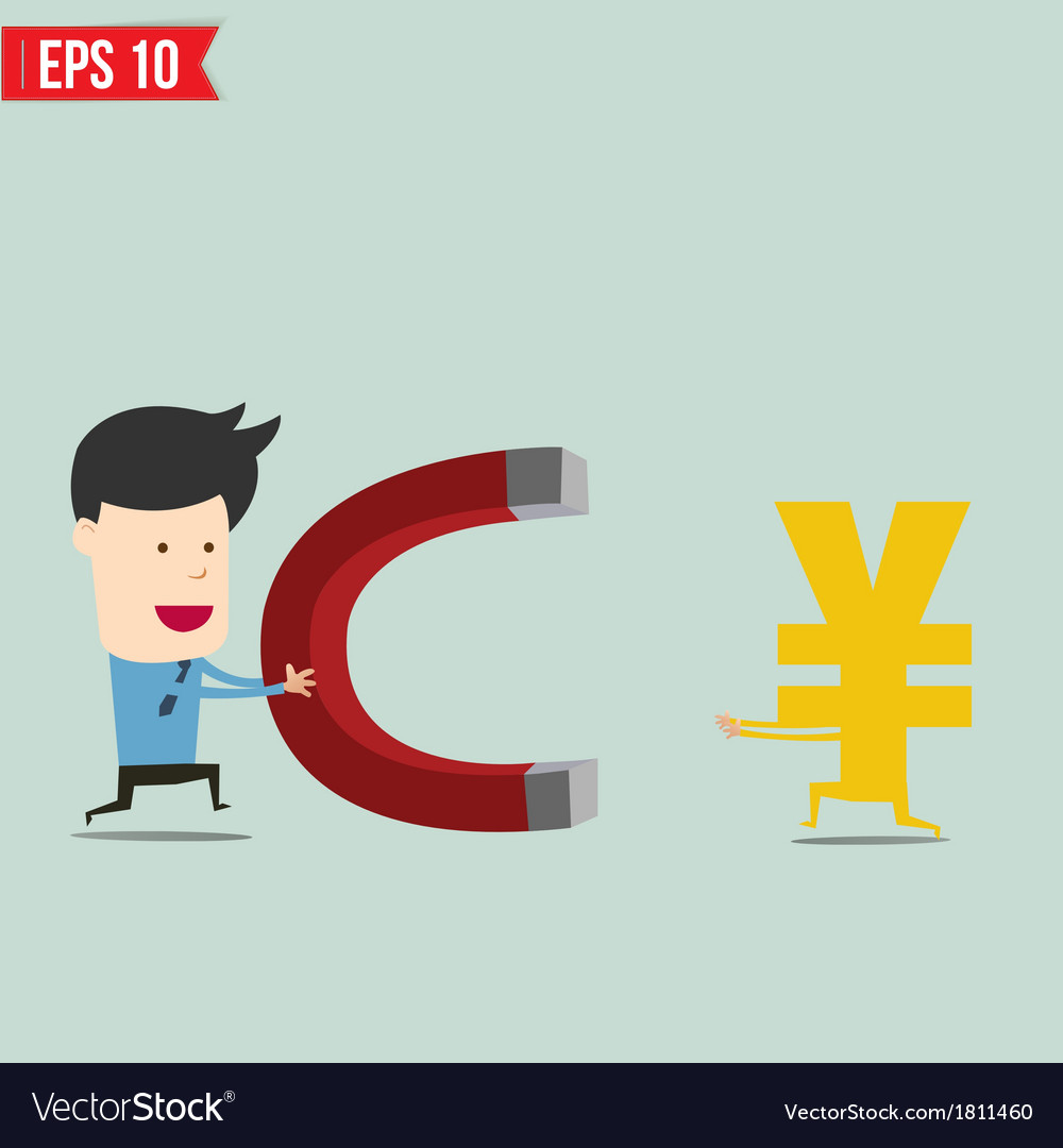 Business man trying to catch money - - eps1 vector | Price: 1 Credit (USD $1)