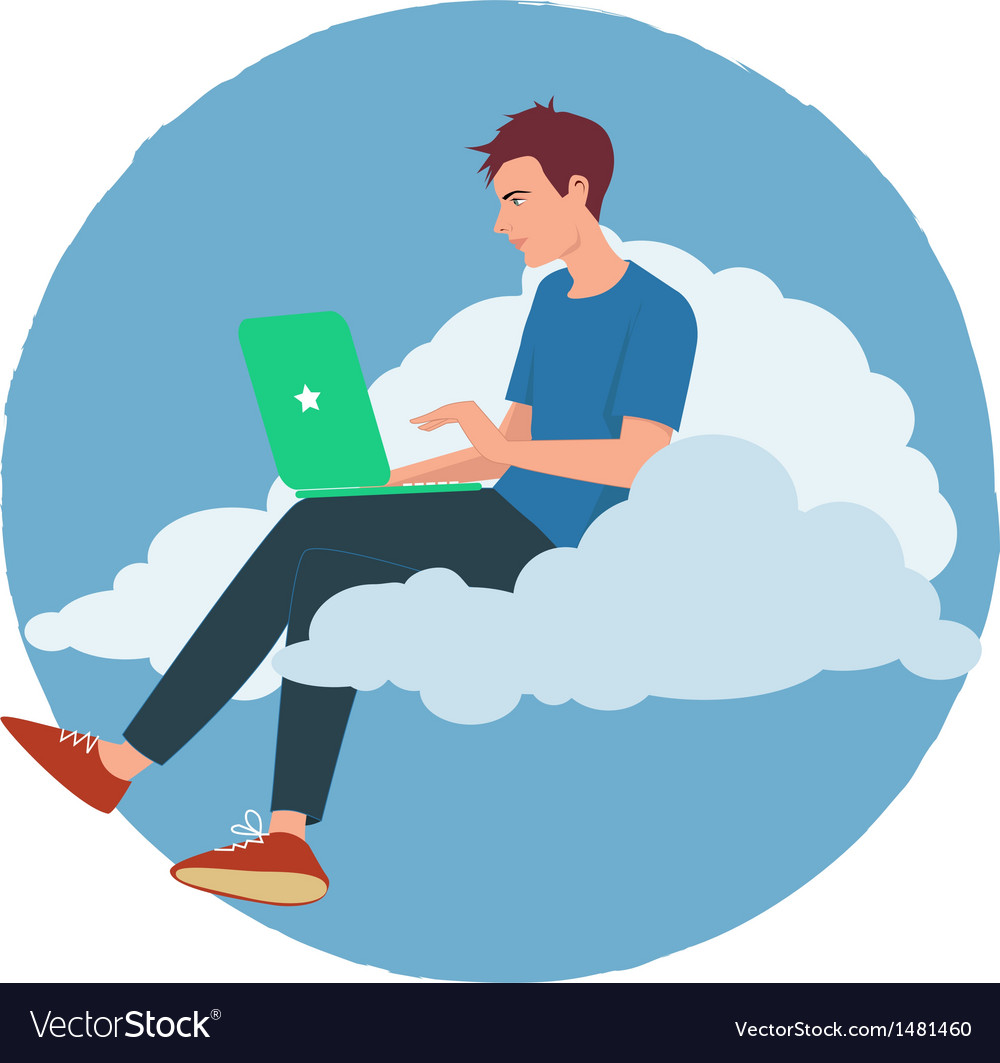 Cloud internet vector | Price: 1 Credit (USD $1)