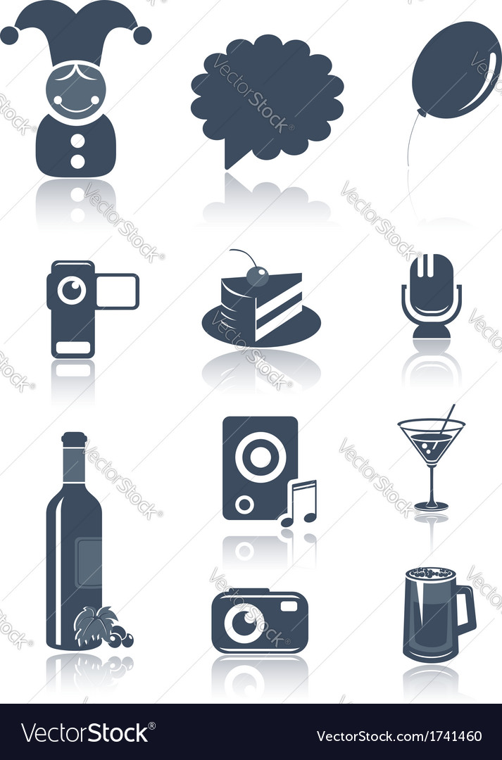 Holidays and party symbols vector | Price:  Credit (USD $)
