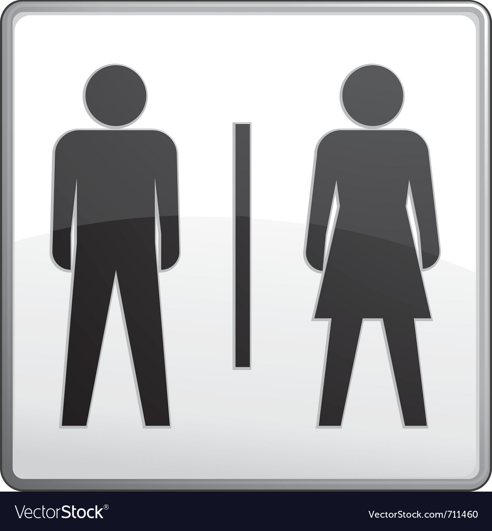 Male and female toilet sign vector | Price: 1 Credit (USD $1)