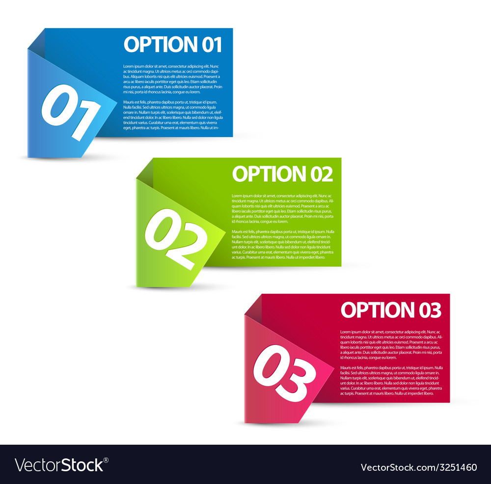 One two three - paper options vector | Price: 1 Credit (USD $1)