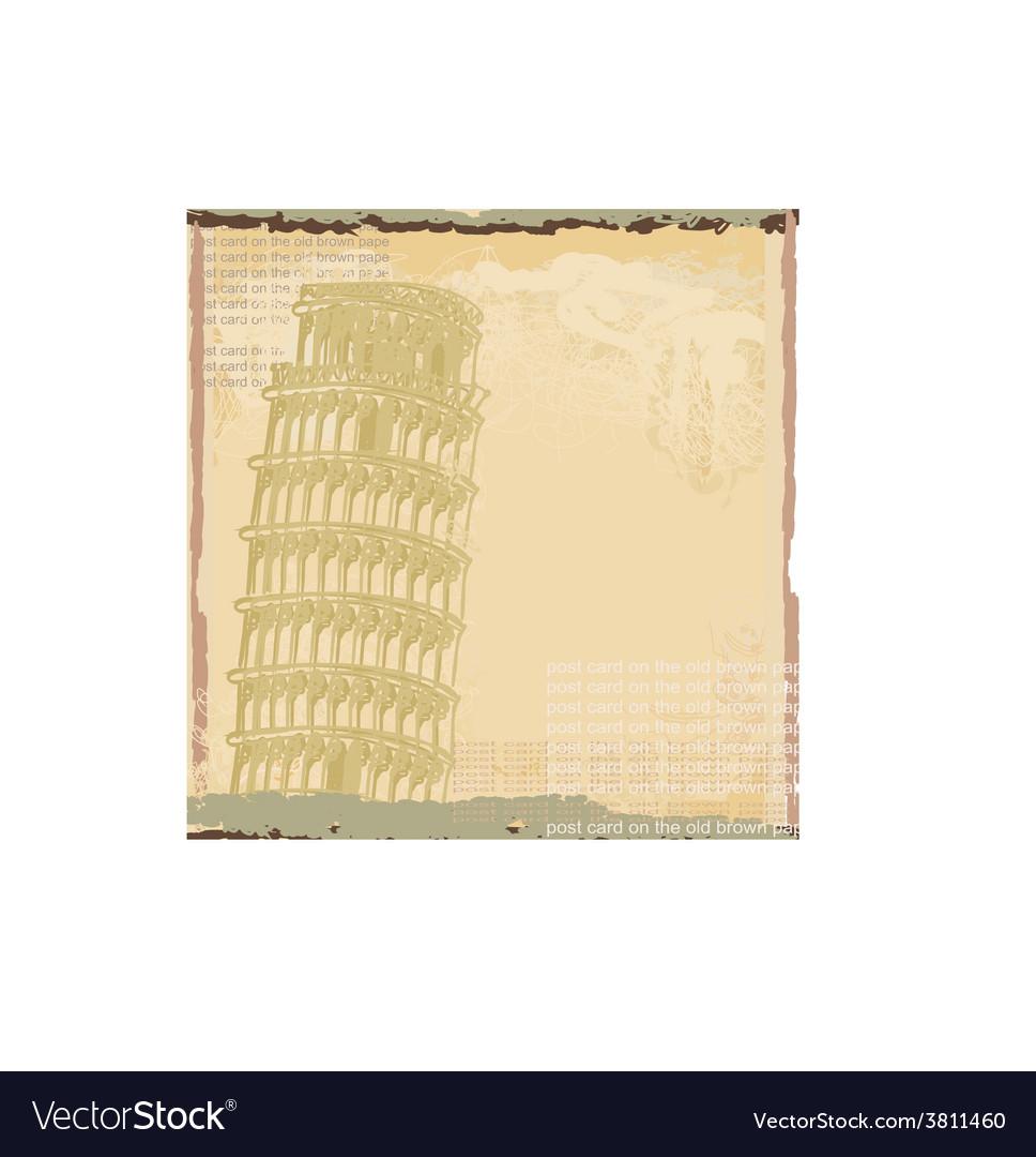 Pisa tower grunge background vector | Price: 1 Credit (USD $1)