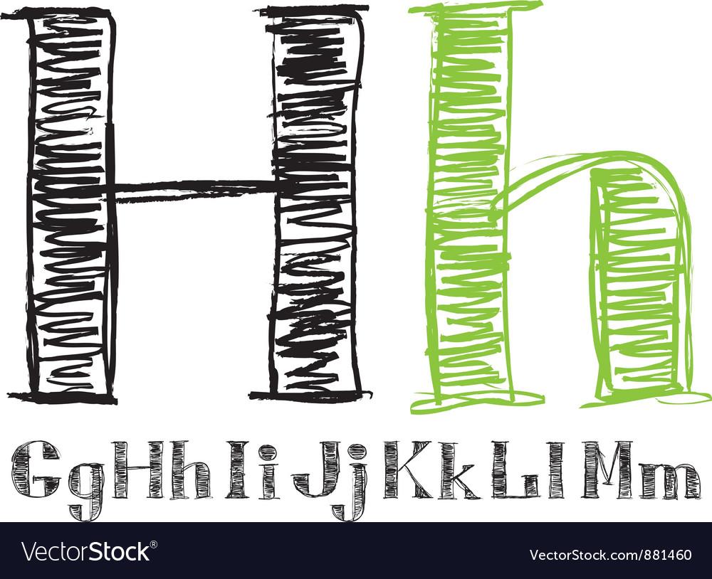 Sketch alphabet new 02 vector | Price: 1 Credit (USD $1)