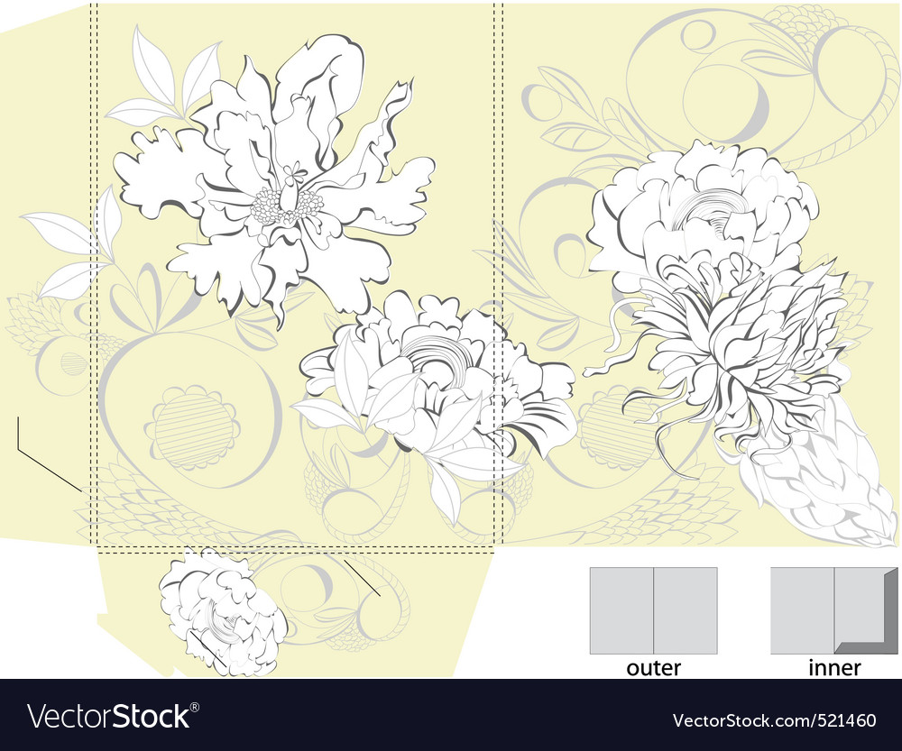 Template for bag with floral ornament vector | Price: 1 Credit (USD $1)