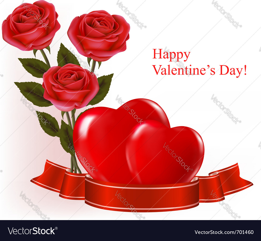 Valentine day background vector | Price: 1 Credit (USD $1)