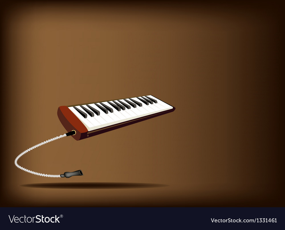 A musical melodica on dark brown background vector | Price: 1 Credit (USD $1)