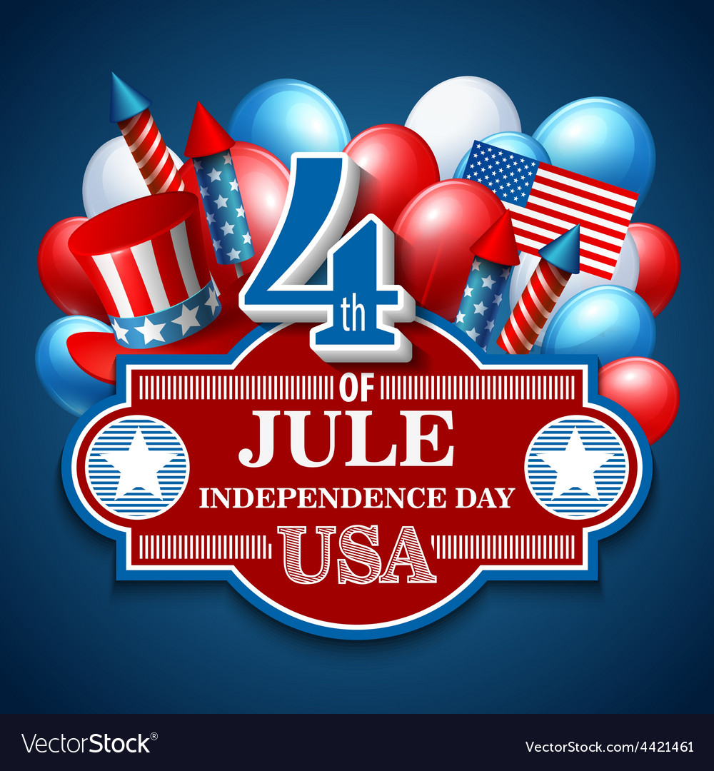 American independence day festive vector | Price: 5 Credit (USD $5)