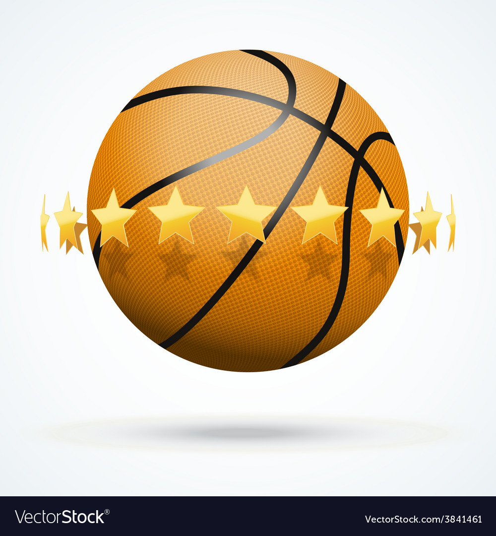 Basketball ball with golden vector | Price: 3 Credit (USD $3)