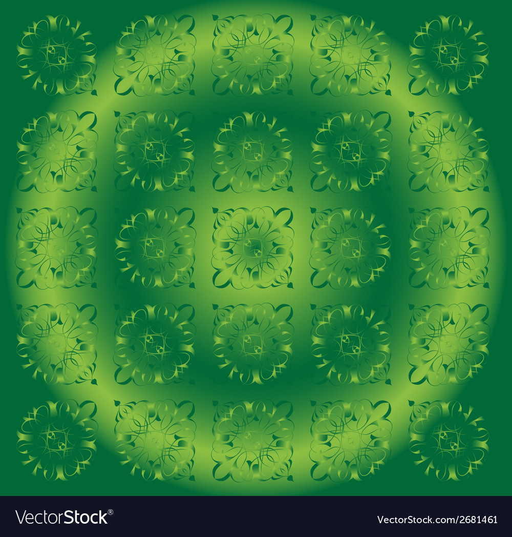 Beautiful circle green light floral background vector | Price: 1 Credit (USD $1)