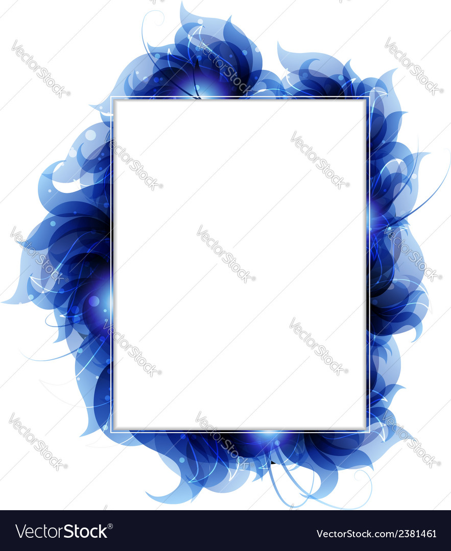 Blue petals background vector | Price: 1 Credit (USD $1)