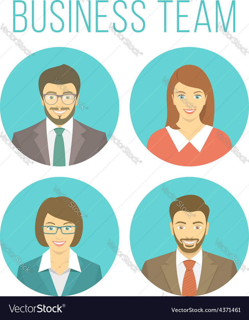 Business people avatars vector | Price: 1 Credit (USD $1)